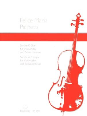 Sonate en ut majeur Felice Maria Picinetti Partition laflutedepan
