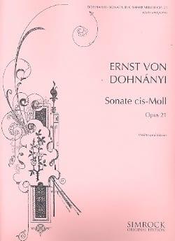 Sonate op. 21 DONHANYI Partition Violon - laflutedepan