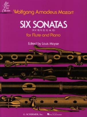6 Sonates, KV 10-15- Flûte piano MOZART Partition laflutedepan