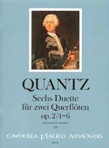 6 Duette op. 2, Nr. 4-6 -2 Flöten QUANTZ Partition laflutedepan