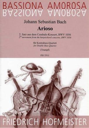Arioso du 2d Mouvt. du Concerto BWV 1056 BACH Partition laflutedepan
