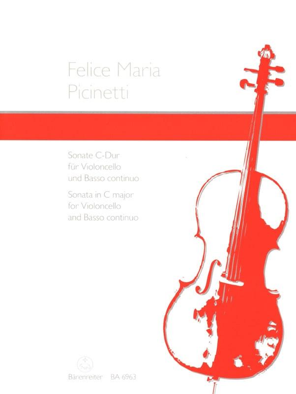 Sonate en ut majeur - Felice Maria Picinetti - laflutedepan.com