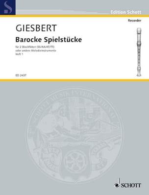 Barocke Spielstücke Bd. 1 Franz J. Giesbert Partition laflutedepan