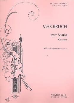 Ave Maria op. 61 BRUCH Partition Violoncelle - laflutedepan