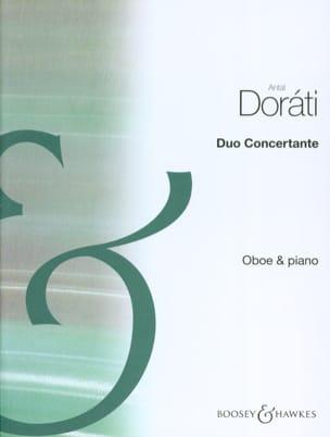 Duo concertant Antal Dorati Partition Hautbois - laflutedepan