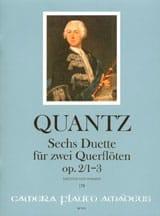 6 Duette op. 2, Nr. 1-3 - 2 Flöten QUANTZ Partition laflutedepan