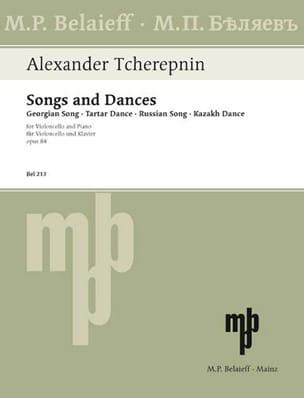 Lieder / Tänze op. 84 Alexandre Tcherepnine Partition laflutedepan
