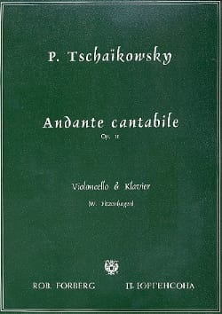 Andante Cantabile op. 11 TCHAIKOVSKY Partition laflutedepan