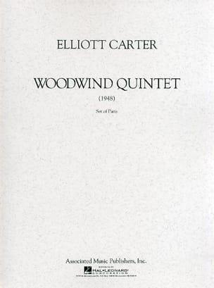 Woodwind Quintet Elliott Carter Partition Quintettes - laflutedepan