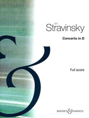 Concerto en Ré pour Orch. à Cordes - Partition STRAVINSKY laflutedepan