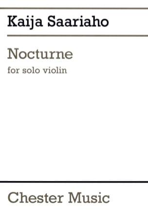 Nocturne Kaija Saariaho Partition Violon - laflutedepan
