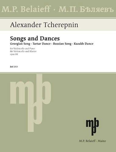 Lieder / Tänze op. 84 - Alexandre Tcherepnine - laflutedepan.com