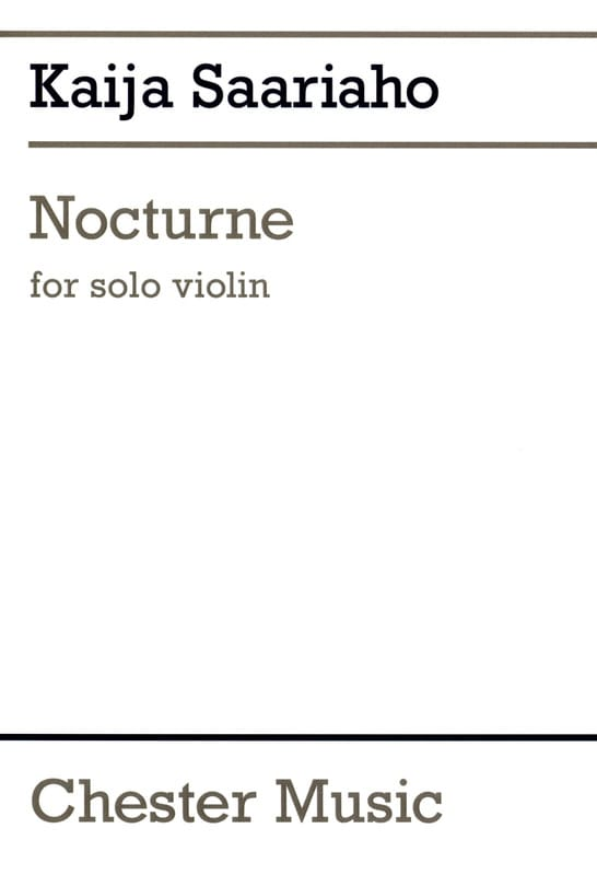 Nocturne - Kaija Saariaho - Partition - Violon - laflutedepan.com