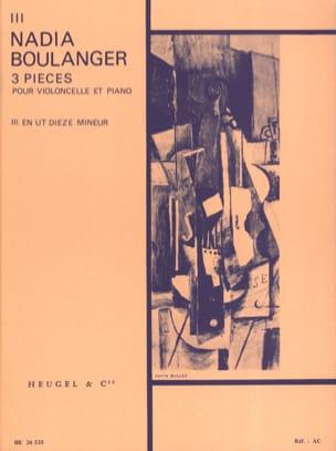 3 Pieces, n° 3 en ut dièze mineur Nadia Boulanger laflutedepan