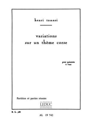 Variations sur un thème corse TOMASI Partition laflutedepan