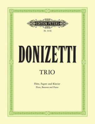 Trio En Fa Majeur -flöte Fagott Klavier DONIZETTI laflutedepan