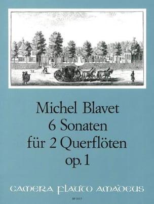 6 Sonaten op. 1 - 2 Flöten Michel Blavet Partition laflutedepan