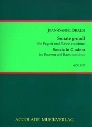 Sonate en sol mineur - Jean-Daniel Braun - laflutedepan.com