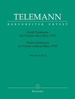 TELEMANN - 12 Fantasies for Violin Only - Partition - di-arezzo.com