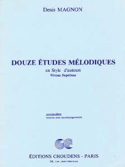 12 Etudes mélodiques - Supérieur - Elève Denis Magnon laflutedepan