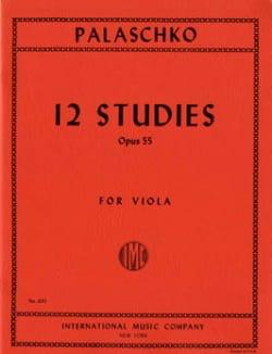 12 Etudes Op.55 Johannes Palaschko Partition Alto - laflutedepan