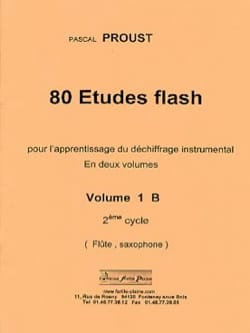 Pascal Proust - 80 Estudios Flash Volumen 1B - Partition - di-arezzo.es