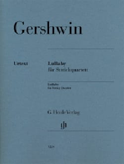 Lullaby GERSHWIN Partition Quatuors - laflutedepan