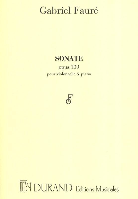 Sonate n° 1 op. 109 - FAURÉ - Partition - laflutedepan.com