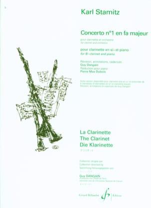 Concerto Clarinette n° 1 en fa majeur STAMITZ Partition laflutedepan