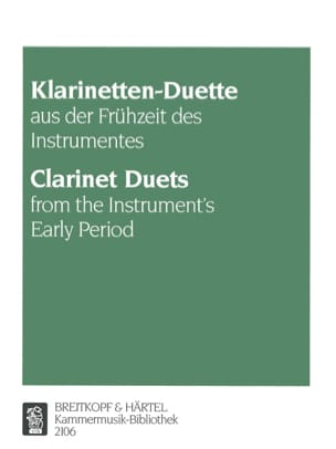 Klarinetten-Duette aus der Frühzeit - Partition - laflutedepan.com
