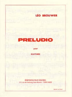 Preludio BROUWER Partition Guitare - laflutedepan