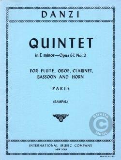 Quintet in E minor op. 67 n° 2 -Parts Franz Danzi laflutedepan