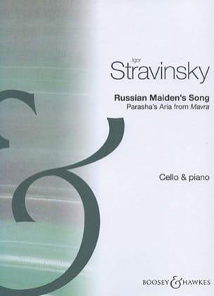 Russian Maiden's Song STRAVINSKY Partition Violoncelle - laflutedepan
