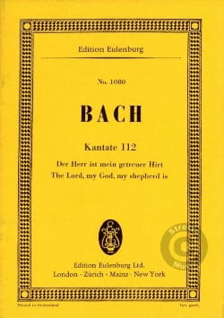 Cantate Der Herr Ist Mein Getreuer Hirt BWV 112 - laflutedepan.com