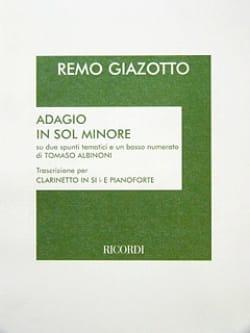Adagio In Sol Minore - Clarinette laflutedepan