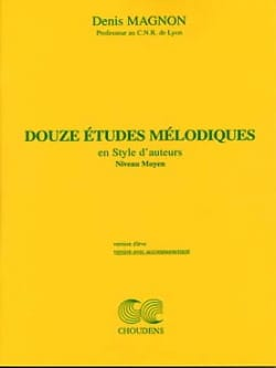 12 Etudes mélodiques - Moyen - Prof Denis Magnon laflutedepan