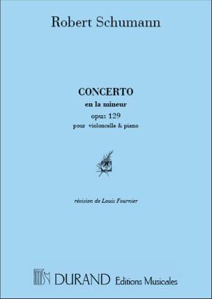 Concerto en la mineur op. 129 SCHUMANN Partition laflutedepan
