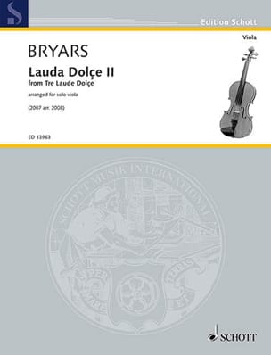 Lauda Dolçe II - Alto solo - Gavin Bryars - laflutedepan.com