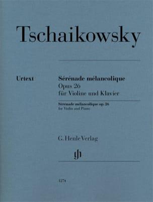 Sérénade Mélancolique TCHAIKOVSKY Partition Violon - laflutedepan