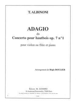 Adagio du Concerto pour hautbois op. 7 n° 1 ALBINONI laflutedepan
