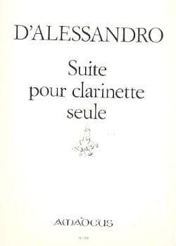 Suite pour clarinette seule Raffaele d' Alessandro laflutedepan