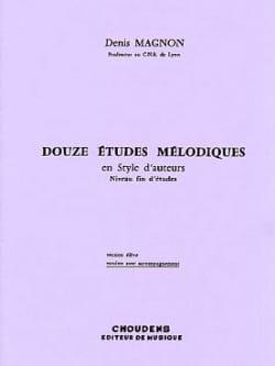 12 Etudes mélodiques - Fin d'étude - Prof Denis Magnon laflutedepan