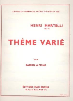 Thème varié - Henri Martelli - Partition - Basson - laflutedepan.com