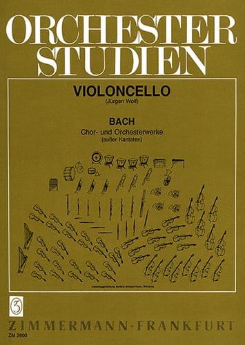 Orchesterstudien - Cello - BACH - Partition - laflutedepan.com