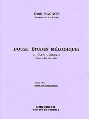 12 Etudes mélodiques - Fin d'étude - Prof - laflutedepan.com