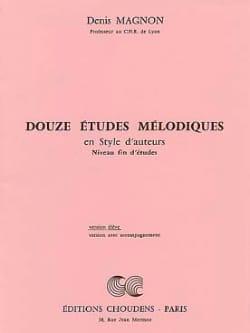 12 Etudes mélodiques - Fin d'étude - Elève Denis Magnon laflutedepan
