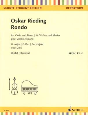 Rondo en Sol Majeur, op. 22 n° 3 - Violon et piano laflutedepan