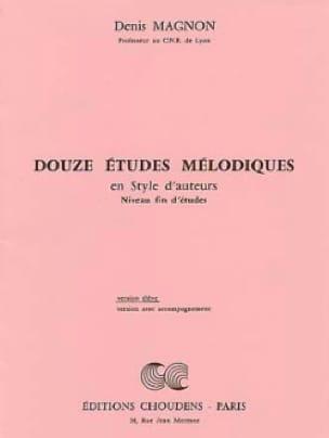 12 Etudes mélodiques - Fin d'étude - Elève - laflutedepan.com