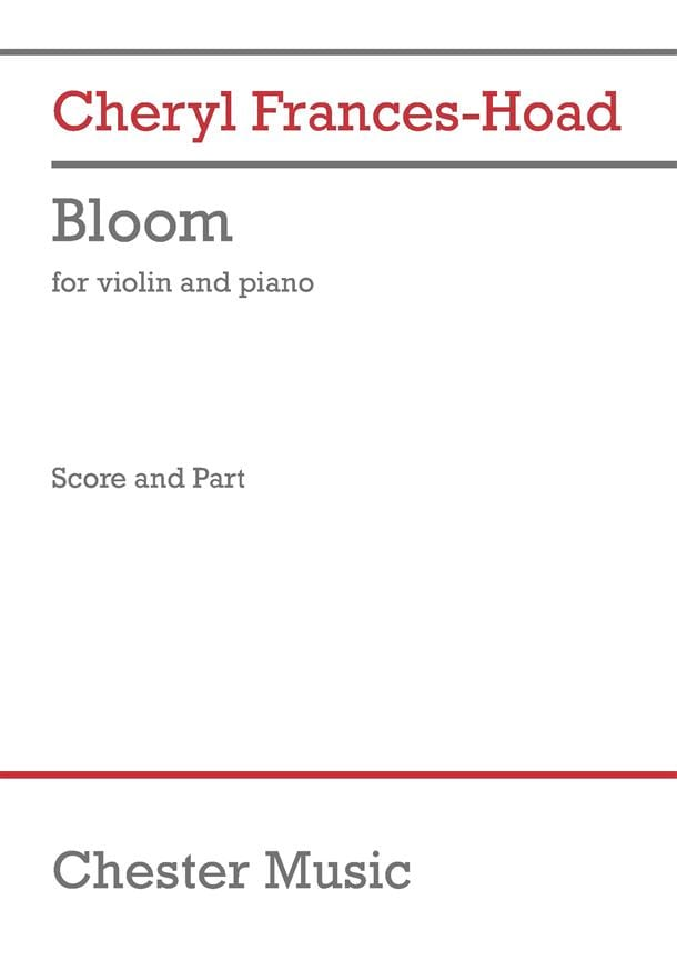 Bloom - Cheryl Frances-Hoad - Partition - Violon - laflutedepan.com