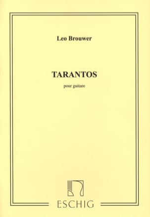 Tarantos BROUWER Partition Guitare - laflutedepan